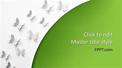 Free Butterflies PowerPoint Template - Free PowerPoint ...