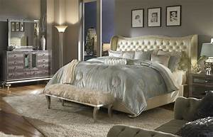 White Mirrored Furniture Ideas And Headboard Bedroom Set ...