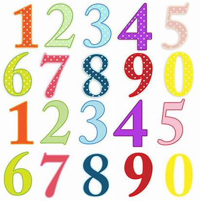 Clip Colorful Numbers