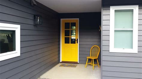 exterior house paint colors photos lexicon trim with taubmans grey and yellow pop