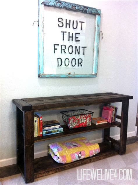 make a desk out of bookshelves diy wooden bookshelf console table easy build that i