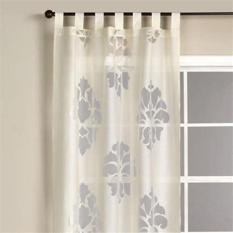 24 ivory damask burnout sheer curtain furnishings