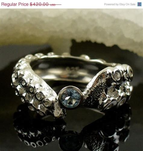 valentines sale size 6 5 blue sapphire tentacle ring