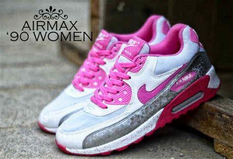 Sepatu Nike Airmax Pink Mix jual sepatu sport wanita keren nike airmax 90 putih pink