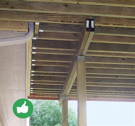 Deck Joist Attachment by Top 10 Deck Building Mistakes The Process Of Building