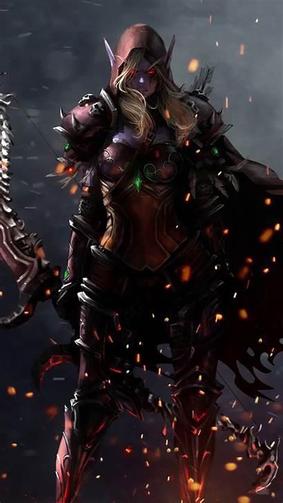 Sylvanas 4k Wow Windrunner Warcraft Phone Wallpapers