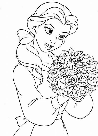 Coloring Pages Detailed Princess Printable Colorings Getcolorings