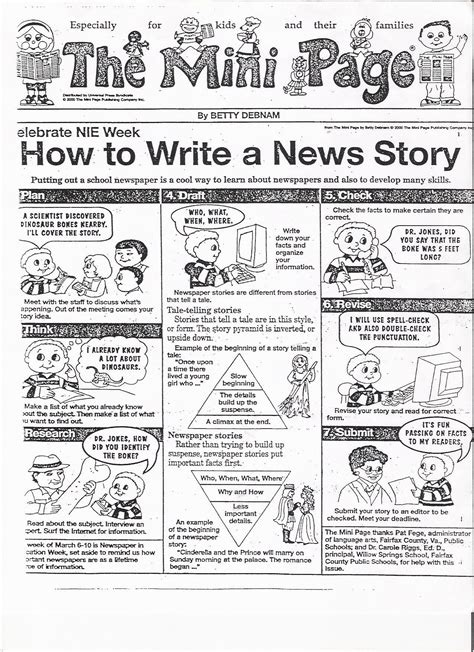Write Cartoon How To Write An Article Newspapers In