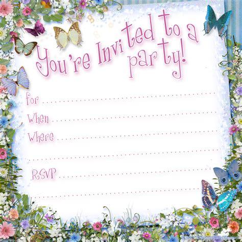 butterfly birthday invitations template bagvania