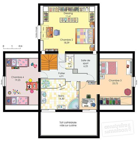 chambre en l maison d 39 architecte dé du plan de maison d