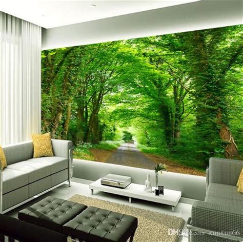 photo wall mural green tree nature landscape wall