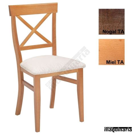 sillas madera  bares   asiento tapizado