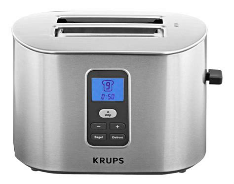 krups 2 slice toaster krups digital intuitive toaster 2 slice cutlery and more