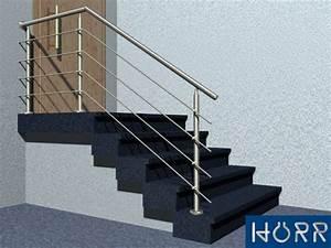 Geländer Für Treppe : gel nder treppe mit podest mit edelstahl handlauf f llung 4 streben befestigung ~ Markanthonyermac.com Haus und Dekorationen