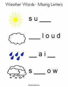 weather words missing letters coloring page twisty noodle With missing letter word games