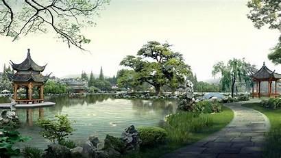 Garden Japanese Zen Desktop Kyoto Wallpapers Widescreen
