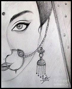 Indian Bride Drawing by Prajakta P
