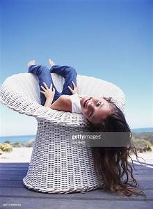 Girl, Sitting, Upside, Down, High-res, Stock, Photo