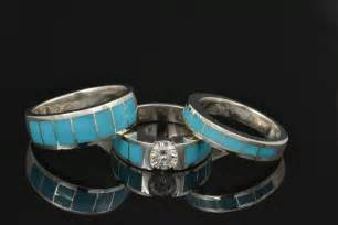 turquoise wedding ring sets wedding rings hileman jewelry dinosaur bone turquoise opal jewelry