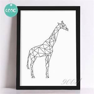 Aliexpress com : Buy Geometric Giraffe Canvas Art Print