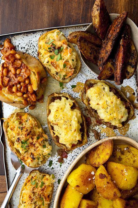 jacket potato potatoes toppings topping food