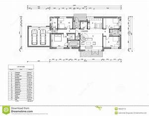 plan d39etage de la maison unifamiliale illustration stock With plans de maison en l 8 conception et realisation de plans maison dessin