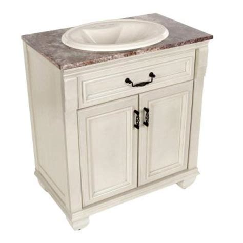 Home Depot Sink Vanity by St Paul Classic 30 In Vanity In Antique White With