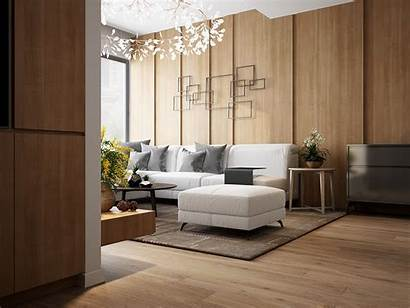 Wall Wood Interior Living Panels Treatments Designs