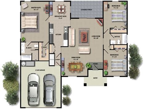 open floor plan house plans one house floor plan design simple floor plans open house