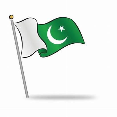 Pakistan Flag Islamic Clipart Pakistani Independence Waving