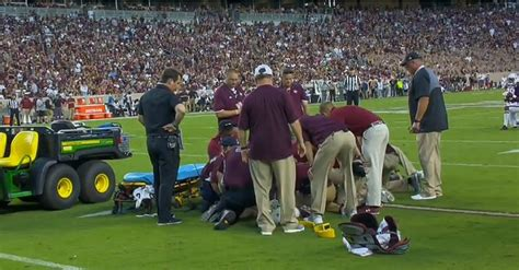 scs terry googer carted   field  scary injury