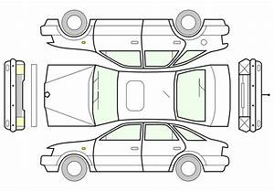 Free Clipart  Unfolded Car