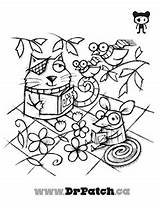 Eye Exercises Lazy Amblyopia Coloring Animals Patch Pages Patches Help sketch template