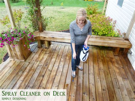 Olympic Deck Cleaner Directions by How To Stain A Deck And Pergola