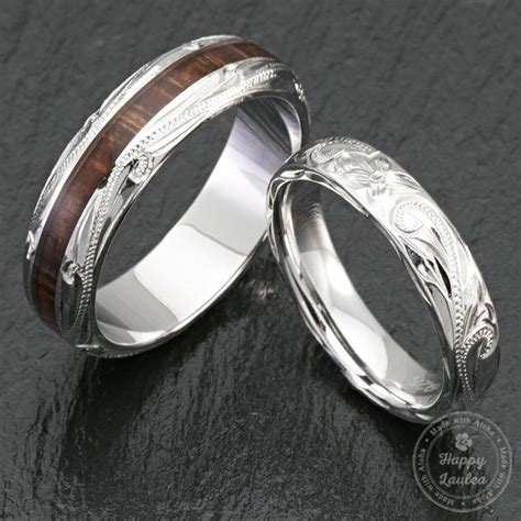 pair  mm sterling silver hawaiian jewelry couple