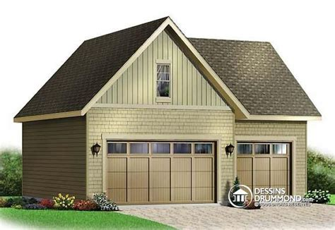 Plan De Garage Avec Loft by Dessins Drummond Plan De Garage 3981 Garage Pour Trois