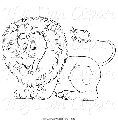 Royalty Free Outline Stock Lion Designs