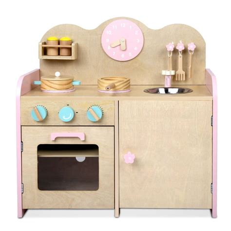 wooden kitchen accessories for children wooden kitchen w 7 accessories in pink buy 1959