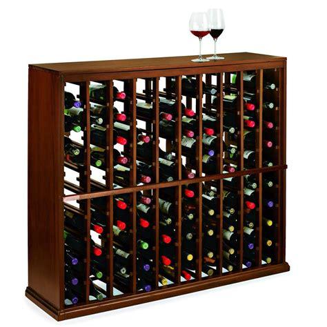 home depot wine rack wine enthusiast n finity 100 bottle walnut floor wine