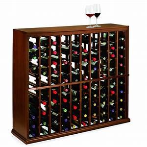 Wine, Enthusiast, N, U0026, 39, Finity, 100-bottle, Dark, Walnut, Floor, Wine, Rack-618, 51, 13