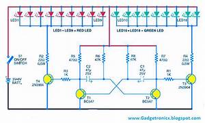 Led Christmas Lights Circuit Using Transistor As Astable