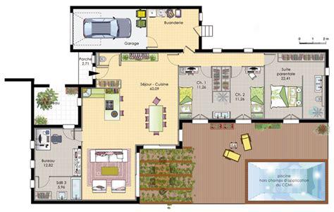 maison moderne plain pied 4 chambres free plan maison plain pied images about plan maison on