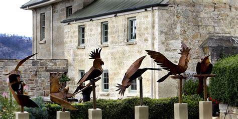 kooper tasmania australia birdbaths garden sculptures gates screens public art fauna