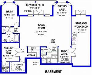 5 Bedroom, 3 Bath Southern House Plan - #ALP-099H