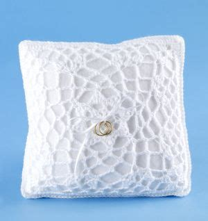 crochet a ring bearer s pillow cover for a handmade element in your wedding vanna s