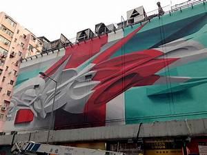 A new 3d graffiti mural in hong kong by peeta colossal for A new 3d graffiti mural in hong kong by peeta