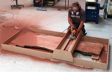 slab flattening router jig plans woodworking plans