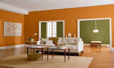green wall living room orange  green wall color