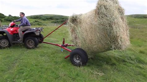 Horse-drawn Round Bale Mover