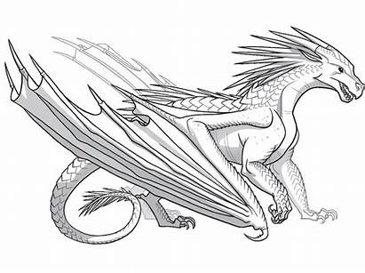 Wings Dragon Coloring Fire Pages Dragons Seawing